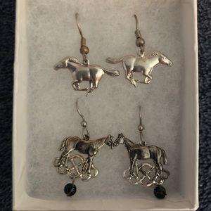 Jewelry - Hanging Horse Earrings
